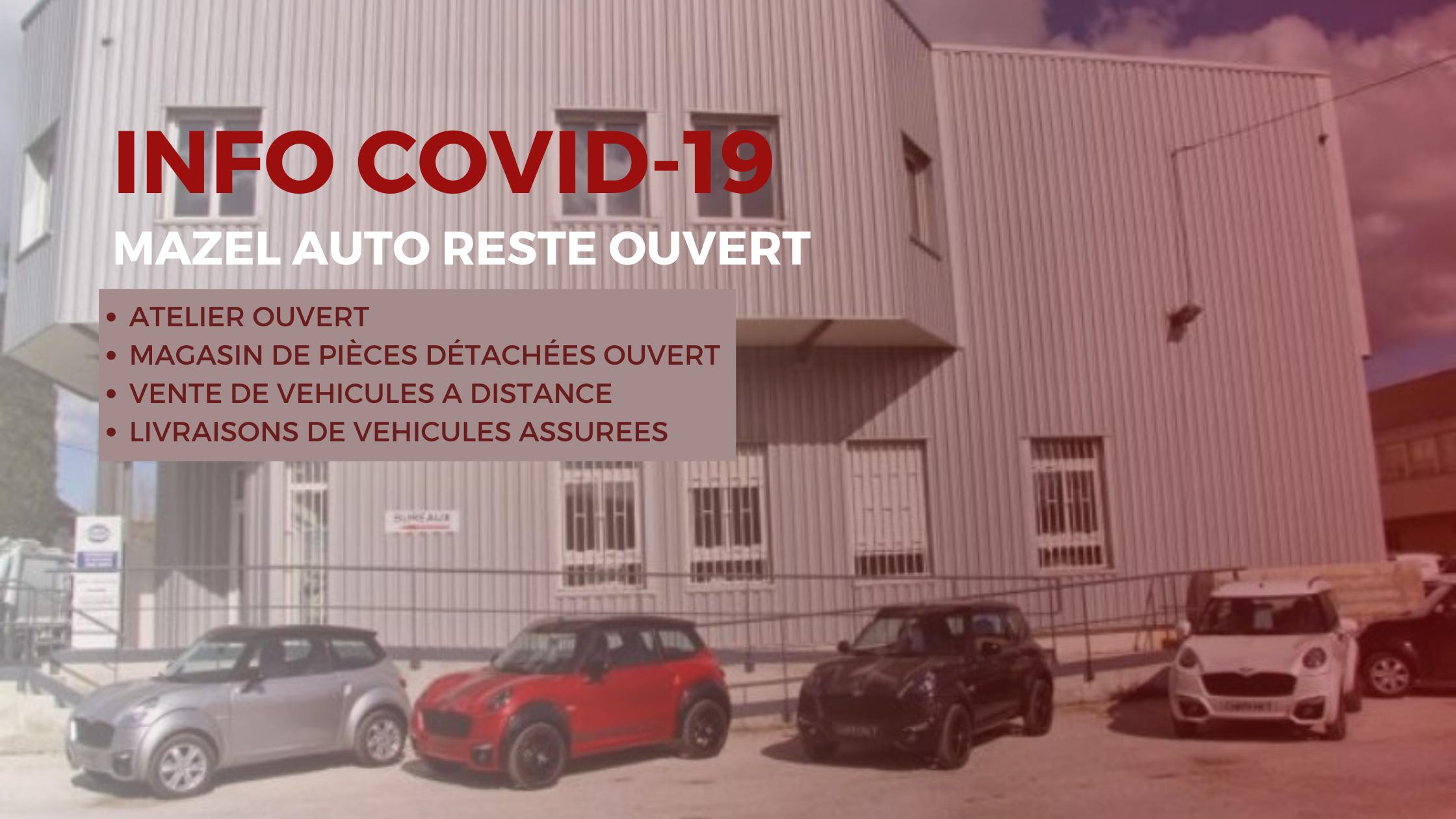 Covid 19 Mazel Auto voitures sans permis - Aubagne (13)